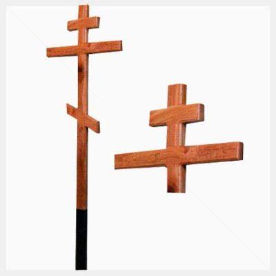 Крест дубовый с надписью